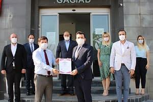 GAGİAD, TSE COVİD-19 GÜVENLİ HİZMET BELGESİNİ ALAN İLK DERNEK OLDU