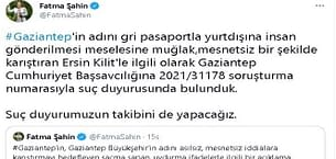 "Fatma Şahin'den ""gri pasaport"" iddialarına tepki"