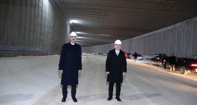 Bakanlar, Gaziray şantiyesinde incelemelerde bulundu